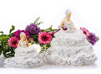 English Ladies Fairytale Gypsy Bride Large And Free Mini Version New /box Blonde