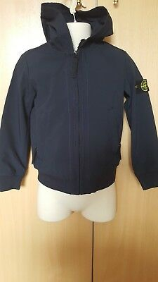 Boys Stone Island Soft Shell Navy Jacket Age 6 Brand New With Tags