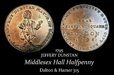 1795 Middlesex Hall's Conder Halfpenny D&H 315, super!