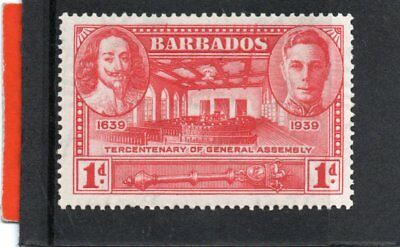Barbados GV1 1939 Gen. Assembly 1d, sg 258 H.Mint