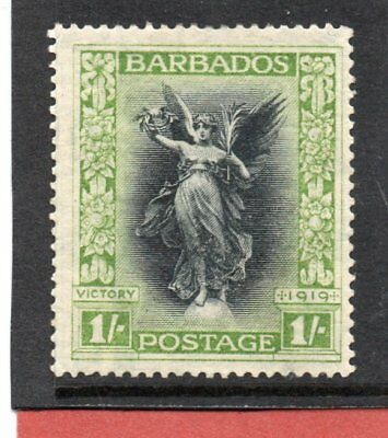 Barbados GV 1920-21 1s black & brt. green sg 209 H.Mint