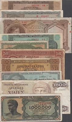 10 Banknotes from Greece