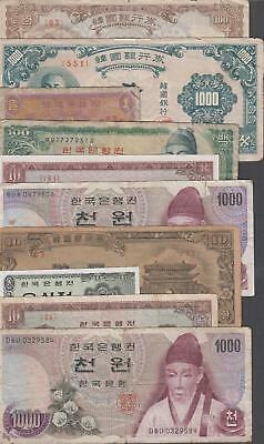 10 Banknotes from Korea