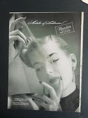 1947 MANIKIN women's nylons stockings Jackie Copeland Conover Covergirl model ad