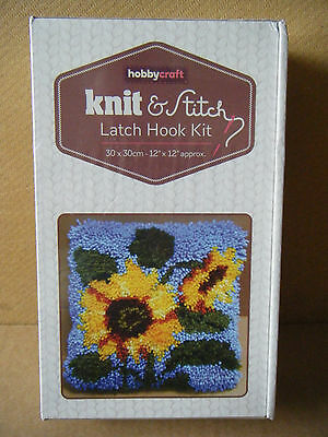 "Hobbycraft Knit & Stitch ""SUNFLOWER"" Latch Hook kit. Brand new & sealed."