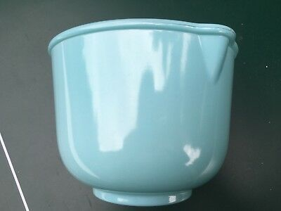 Vintage Glasbake Sunbeam Turquoise Aqua Blue Mixing mixer Bowl small pyrex glass