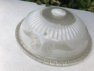 Antique Victorian Glass Light Cover 3 Hole Hanging Chandelier Part Ceiling 14""