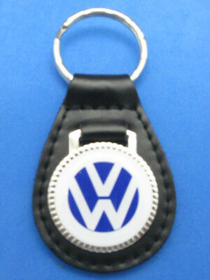 Vw Volkswagen Leather Auto Keychain Key Chain Ring Fob New #051