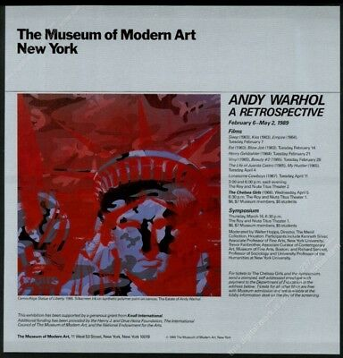 1989 Andy Warhol Statue of Liberty camouflage art MoMA vintage print ad