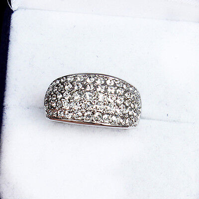 49.15CT 18K White Gold Plated Exquisite Crystal Ring New Style MSZ53
