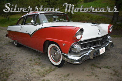 1955 Ford Fairlane Crown Victoria 1955 Red and White Power Steering, Power Brakes Classic Ford