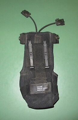 US MILITARY BLACK Tactical Thales Handheld Radio Holster Pouch 23386