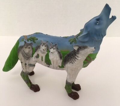 "Westland Call Of The Wolf PACK HUNT Resin 6"" Figurine Figure Retired"