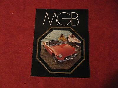 1973 MG MGB Sports Car Old Original Showroom Dealership Brochure Booklet
