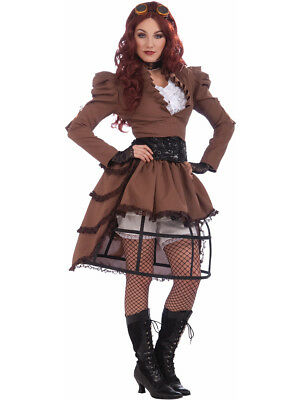 Womens 14-16 Steampunk Vicky Victorian Cowboy Costume