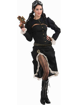 Womens Steampunk Renegade Victorian Cowgirl Costume