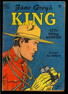 Four Color #283 (Zane Grey's King of the Royal Mounted) Dell Comic 1950 GD