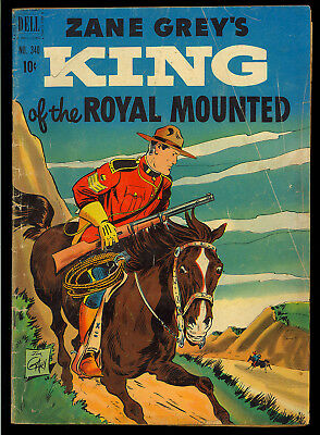 Four Color #340 (Zane Grey's King of the Royal Mounted) Golden Age Dell 1951 GD
