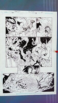 Mark BAGLEY - JLA  Original Art