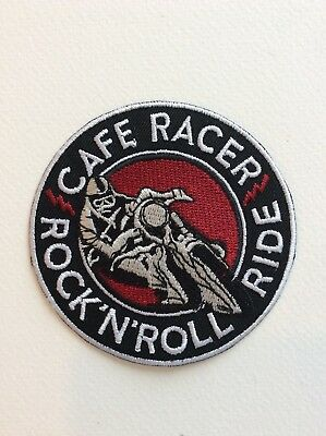 D180 // Ecusson Patch Aufnaher Toppa / Neuf / Cafe Racer Rock N Roll 8 Cm