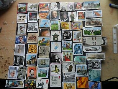 lot 1 g.b.modern used commorative stamps  on & off paper space fillers