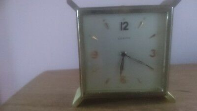 zenith swiss made brass alarm clock