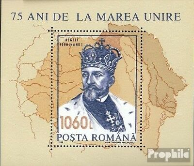 Romania Block286a unmounted mint / never hinged 1993 King Ferdinand I.