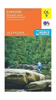 Ordnance Survey Explorer OL9 Exmoor Map With Digital Version One Size