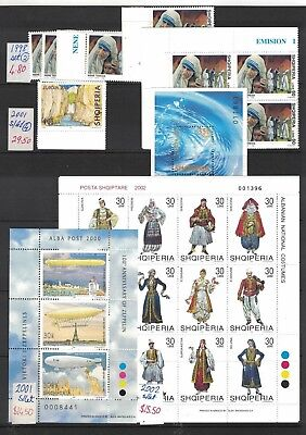 Albania stamps early ex-dealaer stock muh + fu, big catalog clearance