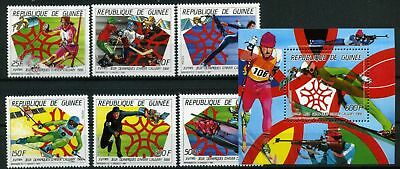 Guinea MiNr. 1154-59 + Bl 260 postfrisch/ MNH Olympiade (Oly604