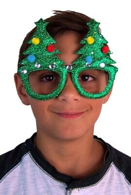 Merry Christmas Tree Glasses Decorated with Ornaments Party Accessory