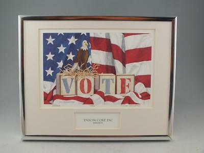 Framed Lithograph Given To Members Of The Enron Political Action Committee
