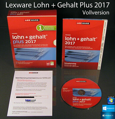 Lexware Lohn + Gehalt Plus 2017 Vollversion Box + CD + Update 2018
