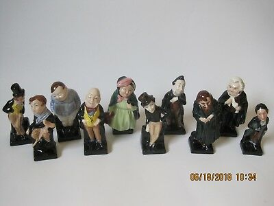 Lot of 10 Charles Dickens Royal Doulton England Porcelain Characters Figurines
