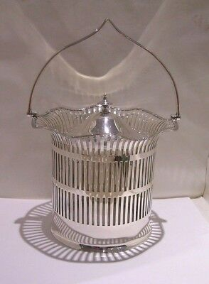 Victorian Silver Plated Biscuit Barrel with Glass Liner