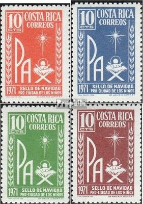 costa rica ZZ53-ZZ56 unmounted mint / never hinged 1971 christmas brands