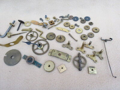 Collection Of Antique And Vintage Clock Parts To Include Some Fusee