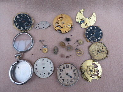 Collection Of Antique Ingersoll Pocket Watch Parts