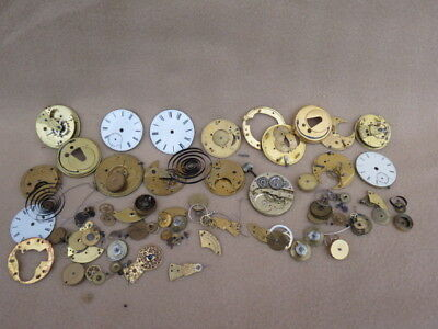 Collection Of Antique Mainly English Fusee And Other Pocket Watch Parts