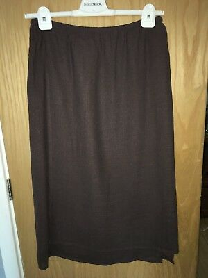 Vintage Mink Wrap Around Effect Linen Blend Skirt By Jaeger 12-14 Great Cond.