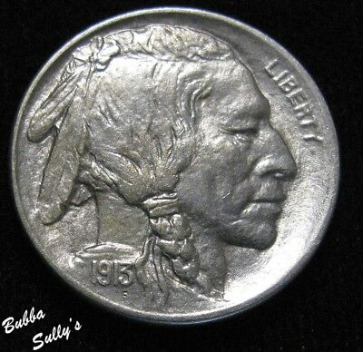 1913 D Type I Buffalo Nickel <> ABOUT UNCIRCULATED