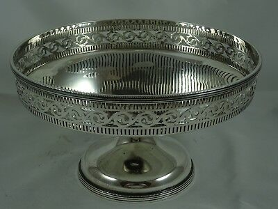 MAPPIN & WEBB solid silver FRUIT BOWL, 1928, 392gm