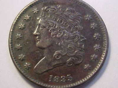 1835 Half Cent, Classic Head AU EARLY HIGH EYE APPEAL TYPE COIN