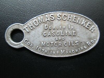 Canton Ohio Thomas Schenker Gasoline & Motor Oils Charge Coin Key Tag