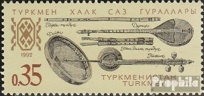 turkmenistan 10 (complete.issue.) unmounted mint / never hinged 1992 Musical Ins