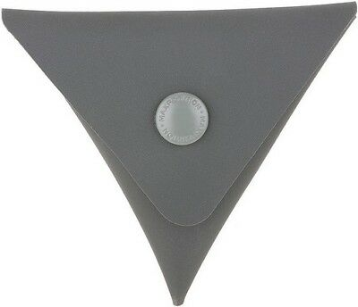 Maxpedition TCPGRY Gray AGR Triangle Coin Pouch Lays Flat When Not In Use