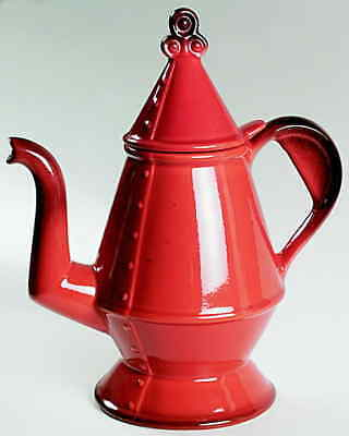 Metlox Poppytrail RED ROOSTER RED Coffee Pot 1238083