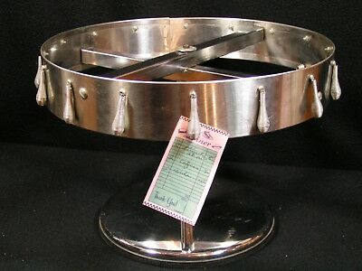 Diner Café Restaurant stainless Order Ticket Holder Soda Fountain rotating stand