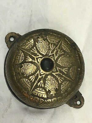 Antique Vintage Ornate Brass Doorbell Bell Chime Eastlake Victorian