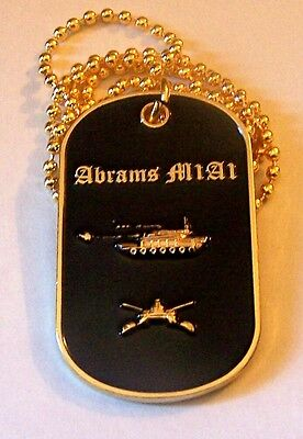M1A1 Abrams Tank Iraq War Army USMC General Dynamics Cavalry Battle Dog Tag ISIS